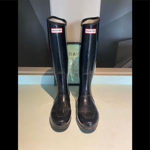 Hunter tall rain boots